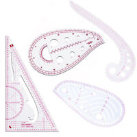 4X French Curve Sewing Pattern Ruler Measure For Dressmaking Tailor Support Tool