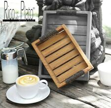 Wood Simple Tray Serving Trays Tea Plate Coffee Plates Bread Wooden Brunch Small