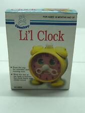 80'S VINTAGE BABY ACTIVITY LIL CLOCK SQUEAKER TOY MIB