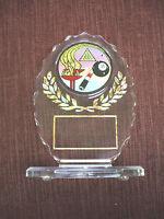 trophy parts lot of 10  silver female pool billiards PDU 408-S