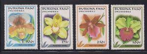 Burkina Faso   1996   Sc # 1083-86   Orchids   MNH   (54118)