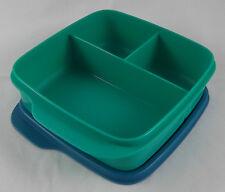 Tupperware Clevere Pause Grün / Petrol Blau 550 ml Lunchbox Box Dose Büchse Neu