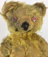 "ANTIQUE Mohair 14"" Teddy Bear Knickerbocker 1940 Fully Jointed"