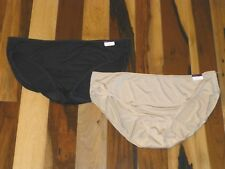 SET OF 2 NWT CACIQUE 26/28 HIPSTER PANTIES IN BEIGE/NUDE & BLACK