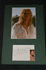 CATHERINE DENEUVE signed Autogramm 20x30 In Person Passepartout NACKT