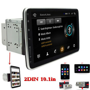 2Din Rotatable 10.1in Car Radio Stereo Video Multimedia Player WiFi GPS 1+16GB