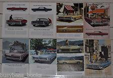 1965 PONTIAC advertisements x8, BONNEVILLE, Grand Prix, Catalina GTO