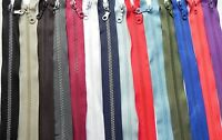 Chunky Teeth Zip / Open Ended Zipper - 14 Colours / 11 Sizes - Made in Europe