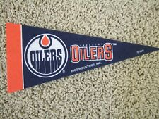 "Edmonton Oilers Nhl Hockey Team Mini 9"" Souvenir Felt Pennant Flag New"