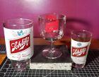 3 Vintage Schlitz Beer Glasses Thumbprint Goblet, Large Glass, & Small Glass!!!!