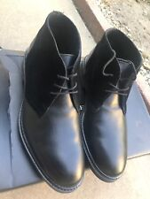 Men's ALFANI Black Leather & Suede Fashion Dress Ankle Boots!! NEW in Box! Sz 9