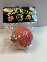 VTG John Stanley Weird Balls Rubber Monster Ball in Pack 1986