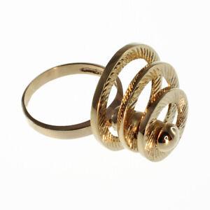 Three Circle Motion Ring in 14k Gold - FL856
