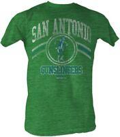 San Antonio Gunslingers USFL Logo Men's Tee Shirt Kelly Heather Sizes S-2XL