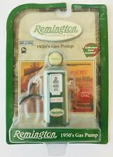 "Miniature Remington Gas Pump 1950s Style Die-Cast Metal 3.25"" Tall + Card New"