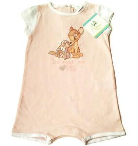 Spieler Bambi Gr.86 Disney NEU 100% Baumwolle kurz einteiler hell rosa baby