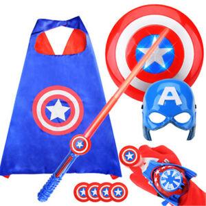 Marvel The Avenger Captain America Shield Helmet Kids Cosplay Toys Xmas Gift