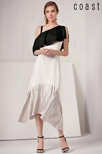 NEW COAST TONYA SOFT COLD SHOULDER MIDI TEA DRESS SIZE 18 Holidays Cruise