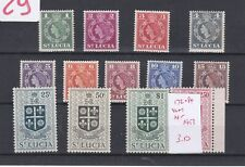 St LUCIA (0n252) SG 172-84 - 1953 set to $2.50 - Very lightly hinged