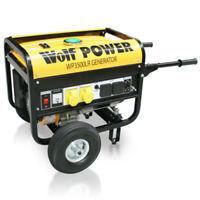 Wolf 3200Watt 6.5HP 4 KVA 240v 110v Dual Voltage Portable Petrol Generator