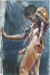 """ NUDE MALE 237/21 gay interest"" Original Watercolor by M. GRACIA"