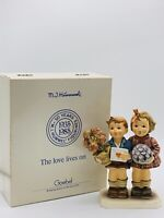 "SIGNED by KROBEK Hummel THE LOVE LIVES ON Hum 416  6.5"" tall 50 Years In Box"