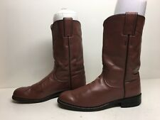 VTG WOMENS JUSTIN WESTERN ROPER DUSTY ROSE BOOTS SIZE 6.5 B