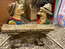 Vintage Towel Bars With Faces