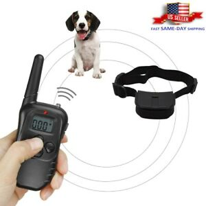 Pet Dog Shock Training Collar Electric LCD Remote Control Waterproof 330 Yards