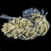 45.00 Cts / 13 Inches Earth Mined Drilled Dendrite Opal Faceted Beads Strand