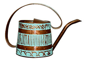 MPT01508 Watering Can, Metal, Teal & Copper, .5-Gal. - Quantity 1