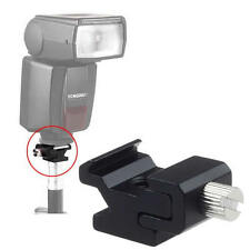 "Hot Shoe Flash Light to Bracket Stand Adapter 1/4"" Tripod Screw for Canon Nikon"