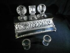 Antique Inkwell Simpson Hall Miller & Co Double Ink Well Silver Quadruple Plate