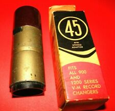 New Listing2 Vintage 45 Rpm Spindle Adaptors-V-M Corp. In Orig.Box And 1 Other-See Photos !