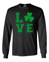 Green LOVE Irish Long Sleeve St. Patrick's Day Drinking Beer Drunk Shirts