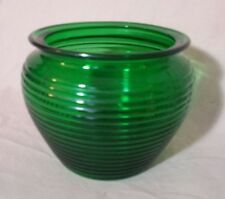 National Potteries Emerald Green Vintage Humidor Glass Division Cleveland Ohio