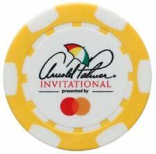 ARNOLD PALMER INVITATIONAL Logo - YELLOW - POKER CHIP Ball Marker