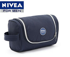 NIVEA Mens Hanging Travel Toiletry Kit Wash Bag Shaving Case Cosmetic Bag
