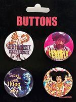 Jimi Hendrix 4 Distintivo Confezione ( NM 93832)