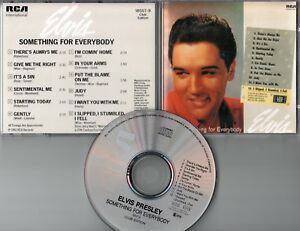 Elvis Presley  CD  SOMETHING FOR EVERYBODY    (c)  1988    CLUB EDITION