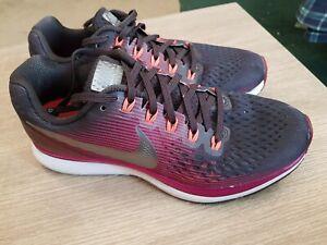 Nike Zoom Pegasus 34 Running Shoes Burgundy Size UK 5.5 EU 39 black ladies