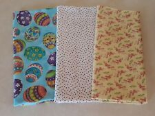 (3) 3/8 Yards Mixed Small Print Fabric 100% Cotton Lot Mixed Floral Easter