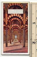 Mosque Cathedral of Cordoba Spain Moor Islam Andalusia 90+ Y/O Ad Trade Card