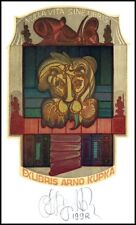 Agirba Ruslan 1998 Exlibris X6 Lion Löwe Lew Book 186