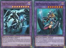 YUGIOH DARK MAGICIAN THE DRAGON KNIGHT LEDD-ENA00 + DARK MAGICIAN GIRL DRAGON