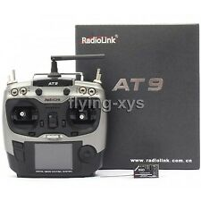 Radiolink AT9 2.4GHz 9 Channel Transmitter Radio & Receiver for RC Hobby F1000