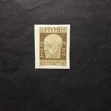 FIUME 1920/ EFFIGIE DI D'ANNUNZIO 45 CENT. NON DENTELLATO LINGUELLATO MH*