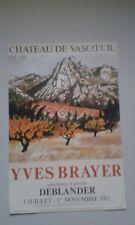 affiche  Yves Brayer porcelaines et grès de Deblander chateau de Vascoeuil 1982
