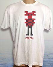 LimoLand Men's Sun Sign Cancer Astrology Large USA Mens White L T-Shirt Art