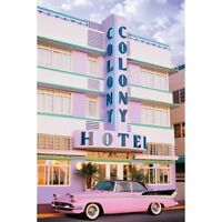 "MIAMI SOUTH BEACH POSTER - COLONY HOTEL - ART DECO - 91 x 61 MM 36 x 24"""